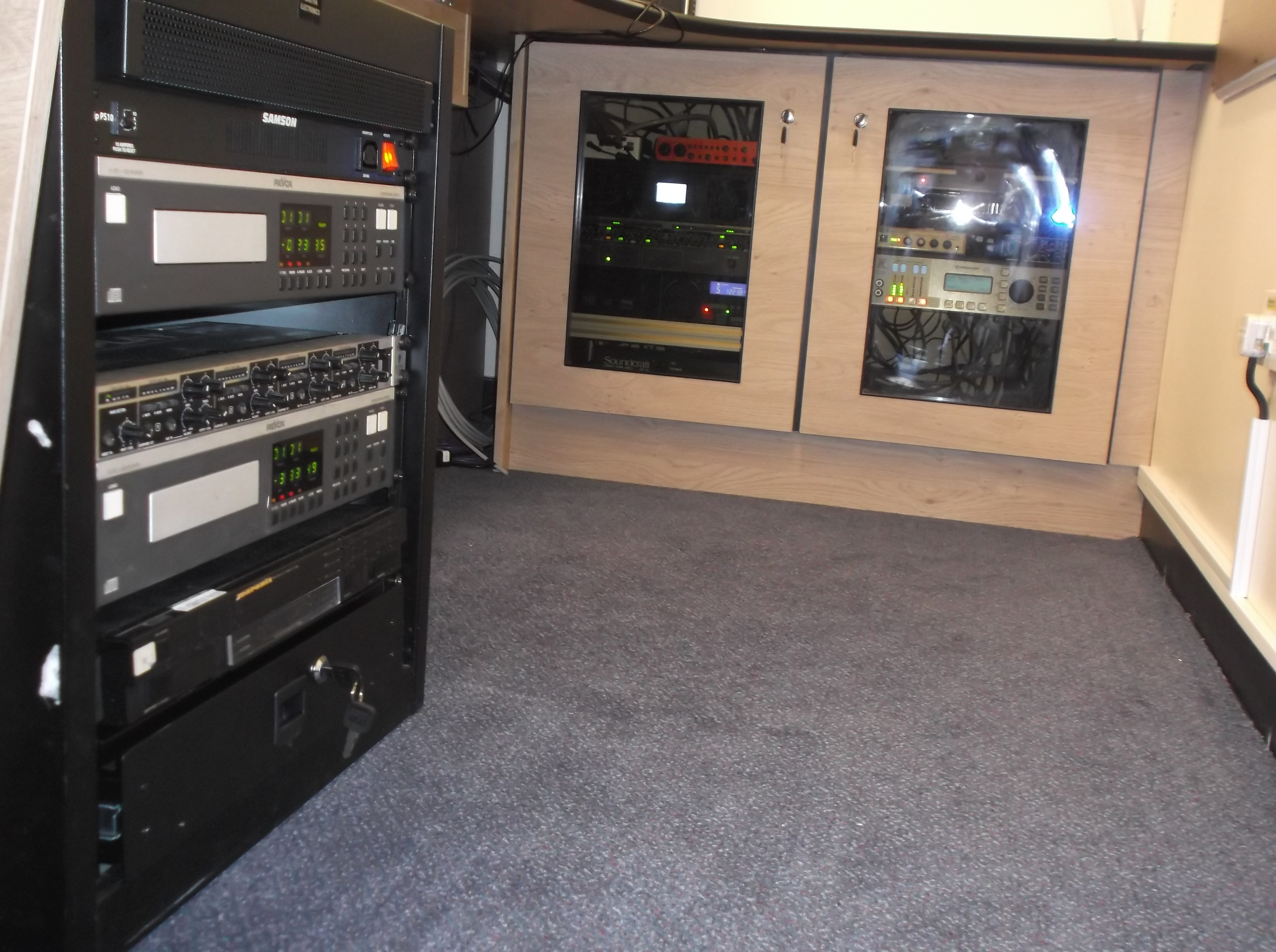 Rack Cabinets - Showing Old Equipment Mounts